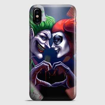 Harley Quinn And Joker Love iPhone X Case