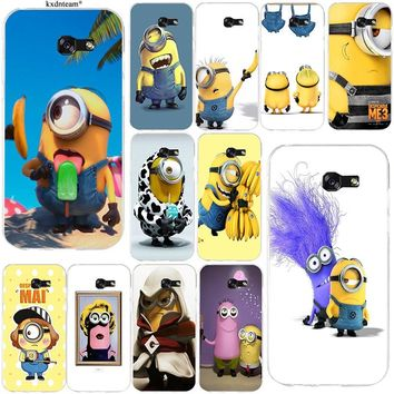 Yellow Lovely Minions DIY Soft TPU Cell Phone Cases for Samsung Galaxy Note 2 3 4 5 8 S2 S3 S4 S5 Mini S6 S7 S8 S9 Edge Plus