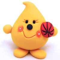 BASKETBALL PARKER - Sports Series - Polymer Clay Character Figurine or Ornament