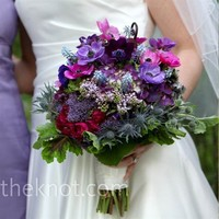 Real Weddings - An Outdoor Wedding in Asheville, NC - Purple Wedding Bouquet