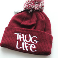 Thug Life hat beanie 2pac gangster hipster winter unisex one size H008