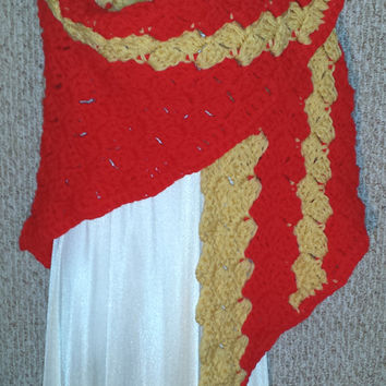 Adult Cozy Shawl: Flaming Passion