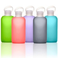 bkr® bottle : bubbly glass water bottle + soft silicone sleeve | deviazon.com