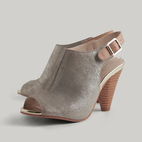 Callin' My Bluff Metallic Booties By Seychelles