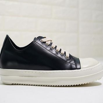 KUYOU Rick Owens Low Leather DRKSHDW Scarpe Sneaker Black