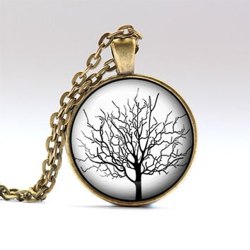 Tree charm Nature jewelry Floral necklace RO551