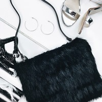 Georgia Mae Ziggy Fur Bag Black