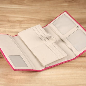 Cabrini Long Wallet - Pink Ostrich
