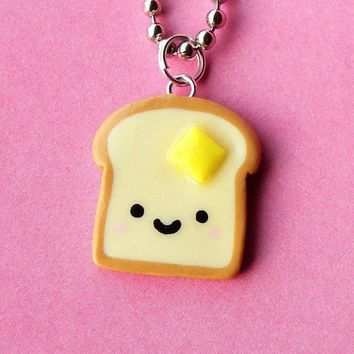 Kawaii Toast Necklace by BabyLovesPink on Etsy