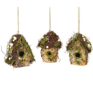 12 Christmas Ornaments - Birdhouses