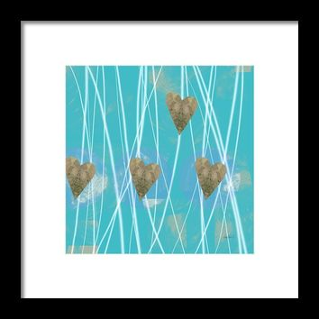 Heart Strings Abstract Art Framed Print