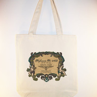 French Vintage Parfumerie du Nord Label Tote by Whimsybags