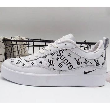 NIKE LAB x Supreme x LV joint trend leisure fashion shoes F-A36H-MY white