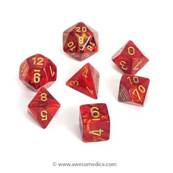 Scarab Scarlet 7-Dice Set | Awesome Dice