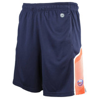 Men's New York Islanders Levelwear Navy Warm Up Mesh Shorts