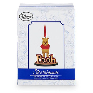 Disney Store Winnie The Pooh Limited Sketchbook Christmas Ornament New with Box