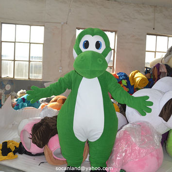 Yoshi Dinosaur Mascot Costume in Super Mario,Cosplay Costume,Adults Costume,Halloween Costume,Party Costume,Yoshi Cosplay,100% Same As Pics