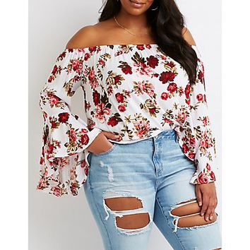 Plus Size Floral Off-The-Shoulder Top | Charlotte Russe