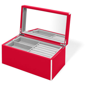 Elle Lacquer Jewelry Box Cherry Red
