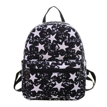 Famous Brand designer bags backpack school bags fashion Women Canvas Shoulder Bag Printing Bag School Backpack Rucksack 2017