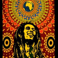 "40"" Bob Marley One Love Wall Hanging Tapestry Throw Poster Flag Cotton Textile"