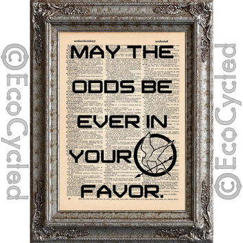 Hunger Games Quote on Vintage Upcycled Page by EcoCycled on Etsy