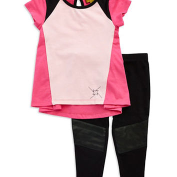 Nicole Miller Girls 2-6x Two-Piece Colorblock Tunic Set