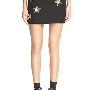 Women's Anthony Vaccarello Star Grommet Pencil Skirt,