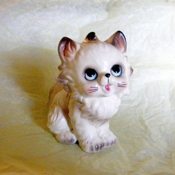 Vintage Persian Kitten Figurine Josef Originals Cat Japan Import