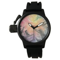 colourful sky dive wrist watch