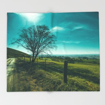 The Walk Home Throw Blanket by Mixed Imagery