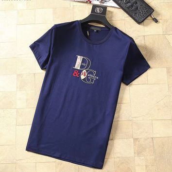 Dolce&Gabbana D&G Fashion Blue T-Shirt Top Tee