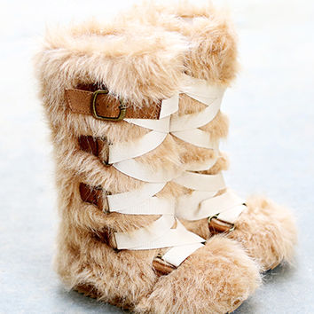 *NEW* Lexi Fur Boots in Caramel