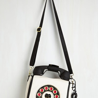 Quirky That's What I Call Style Bag in Blanc by Betsey Johnson from ModCloth