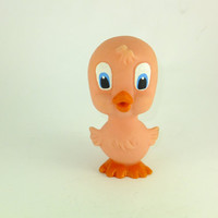 Vintage Russian Duck Rubber Baby Bath Toy, CCCP