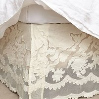 Camellia Bedskirt by Anthropologie White Queen Skirt Bedding