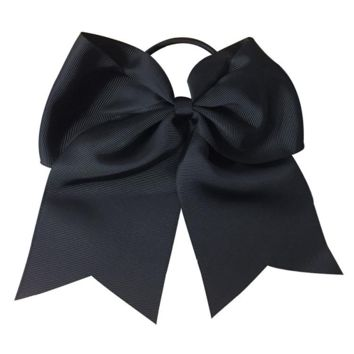 Softball Hair Bow- Black