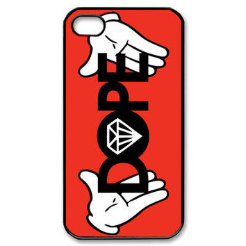 New DOPE Diamond JDM illest OBEY Hype HUF Swag  Cover Case For Apple iPhone 4 4s