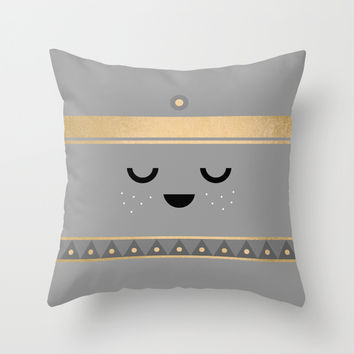 Little Tipi / Face Pillow Throw Pillow by Elisabeth Fredriksson