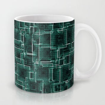 The Maze - Teal Mug by Alice Gosling