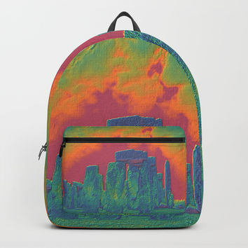 Stonehenge on Fire Backpacks by Lyle Hatch