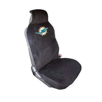 Licensed Official New NFL Miami Dolphins Car Truck Front Sideless Seat Cover Airbag Ready