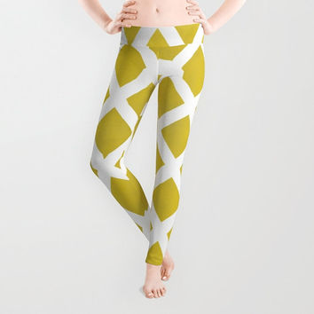 Leggings Wearable Art - Women, Pants, Clothing, Yoga, Leggings, Capri, Hand Sewn- XS-S-M-L-XL, Art, Designer, Digital, Abstract, Chartreuse