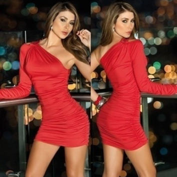 New Arrival, CPAM  Fashion Clubwear Dress Sexy Mini Clubbing Dresses  Black Red White  N035 = 1945684420