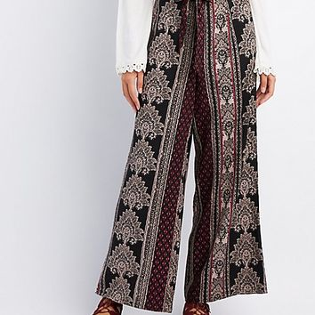 Printed Wide-Leg Pants