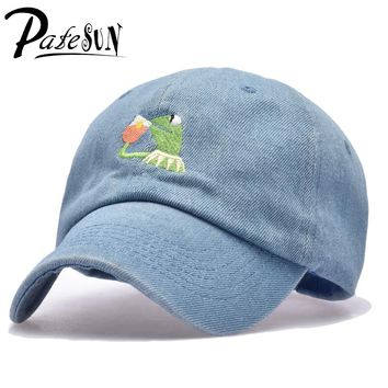 Frog Tea Snapback Kermit None Of My business Dad Hat Lerbon James casquette kenye Big Daddy hat Men Women Girl's Baseball cap
