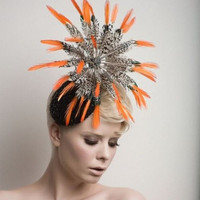 Lady amherst cocktail hat-Fascinator