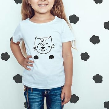 Youth Fine Jersey Tee  Kids Tshirt  Toddler Tee  Cat Paws