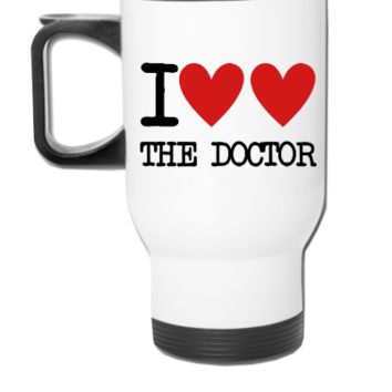 I Heart The Doctor - Travel Mug