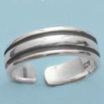 Thick Band Sterling Silver Toe Ring